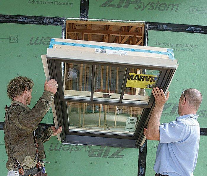 Weatherproof window install - EcoShield Exteriors